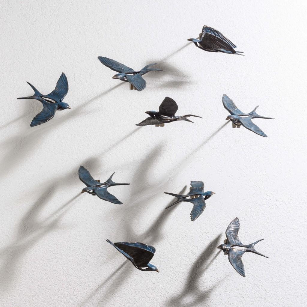 Birds on a Wall 1a