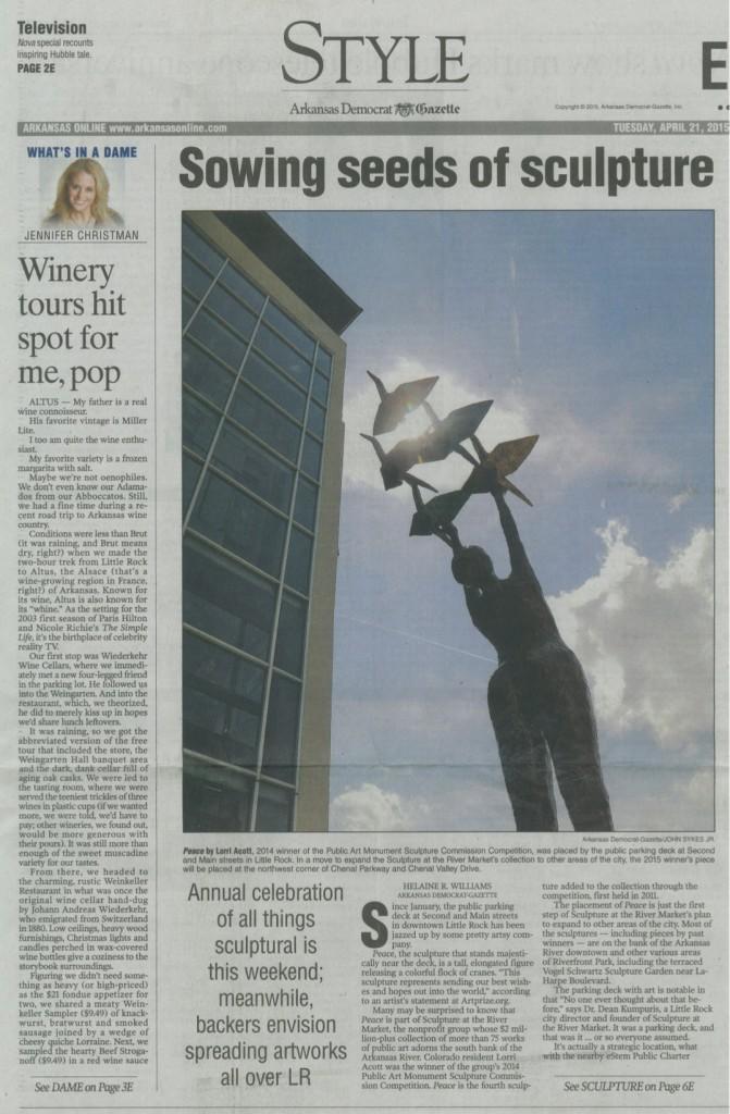 Sandy in the Arkansas Gazette